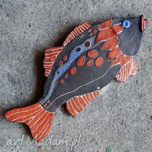 ceramiczna ryba mniejsza - marzenie, dekor, ceramika, zawieszka, dekoracja, unikat