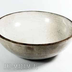wyjątkowy prezent, biała misa raku, ceramika, misa, miska