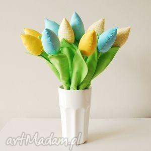 ręcznie zrobione dekoracje bukiet bawełnianych tulipanów