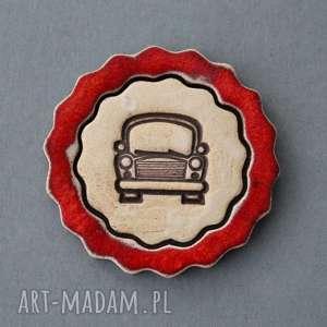 ręcznie zrobione świąteczne prezenty auto-magnes ceramiczny