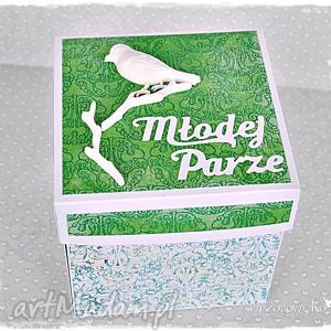 młodej parze - box personalizowany, kartka, exploding box, eksplodujące, pudełko