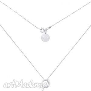 handmade naszyjniki srebrny naszyjnik z serduszkiem w kółeczku