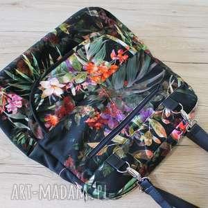 ręcznie wykonane pomysł na prezent pod choinkę plecak torba listonoszka - tropikalne