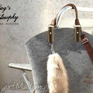 shopper bag hobo z kitą - torba, filc, filcowa torebki