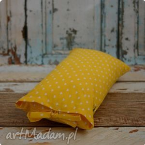 ręczne wykonanie pokoik dziecka poszewka poduszka - banaowe serduszka 60x30