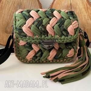 ręcznie zrobione na ramię szydełkowa torebka fancy puff