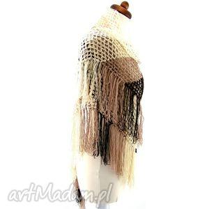SAMA zaprojektuj SWOJĄ chustę - różne kolory, chusta, szal, frędzle, ażur