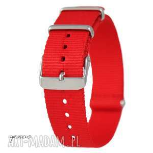 handmade zegarki pasek do zegarka - nato, nylonowy, czerwony