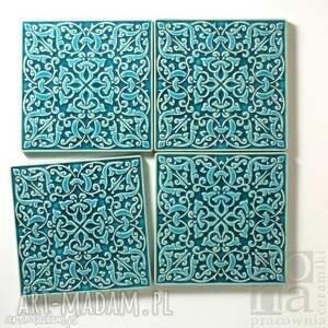 kafle adagio xl turkusowe, kafle, płytki, dekory, ścienne, ceramiczne, ornamentowe