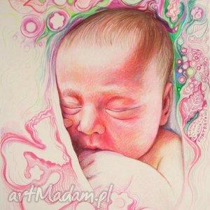 Portret bobasa dla dziecka pi art portret, niemowlę, roczek
