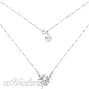 srebrny naszyjnik z mopsem sotho - srebrne naszyjniki, zawieszka, kobiecy