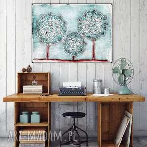 pastelowe drzewa 60x90cm