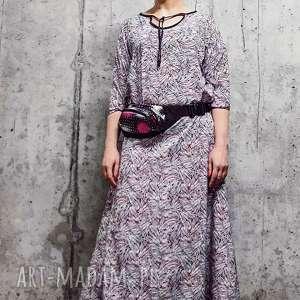 sukienki w snach vangoga-sukienka, boho sukienka, etno abstrakcja, maxi sukienka