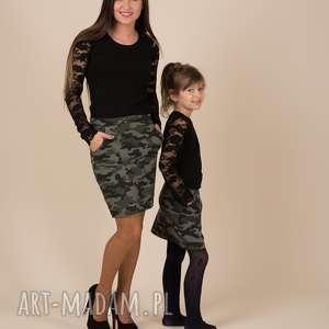 komplet spódniczek moro dla mamy i córki, komplet, córki