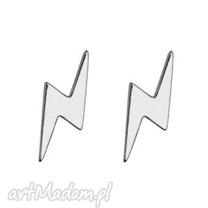 srebrne kolczyki pioruny - minimalistyczne, kobiece, modne