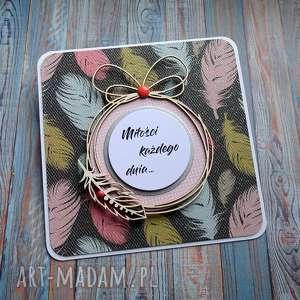 Ślubne piórka, kartka ślubna, życzenia ślubne, tiul, brokat, wyjątkowy