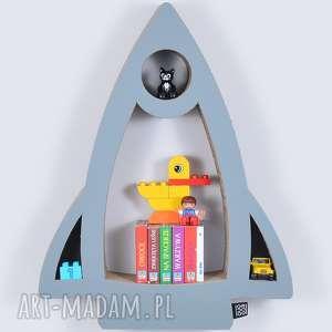 Półka na książki zabawki RAKIETA ecoono | szary , półka, chłopiec, dziewczynka