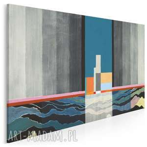 Obraz na płótnie - ABSTRAKCJA LATARNIA 120x80 cm (15201), latarnia, prl, abstrakcja