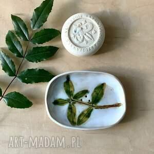 ceramika mydelniczka barwinek, wyposażenie łazienki, użytkowa