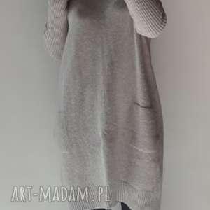 Sukienka oversize z kieszeniami sukienki feltrisimi klasyczna