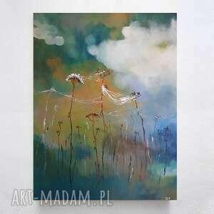 Trawy-obraz akrylowy formatu 40 50 cm paulina lebida trawy