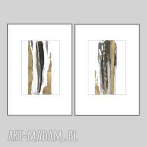 zestaw absrakcji 2 x 21cm 30cm, ręcznie malowane, abstrakcja, nowoczesne