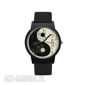 Zegarek z silikonowym paskiem yin yang zegarki laluv filozofia