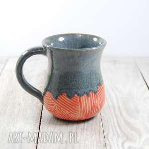 Prezent Kubek ceramiczny sgraffito, do-kawy, do-herbaty, walentynki, dzień-kobiet