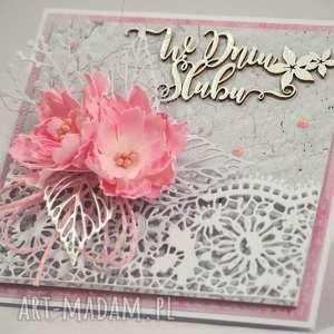 W dniu ślubu, ślub, kartka, życzenia, scrapbooking