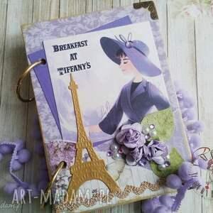 urodzinowy notes/spełnienia każdego marzenia, notes, retro, złoty, pamiętnik, paryż