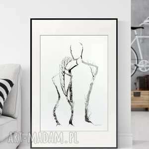plakaty obraz ręcznie malowany 50 x 70 cm, nowoczesna abstrakcja, 2814430