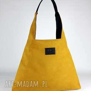 hand made na ramię boba waterproof miodowa designerska duża torba xxl