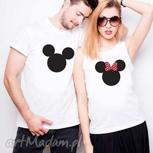 koszulki dla par minnie, love koszulki