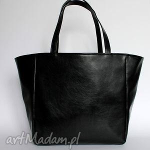 pomysł na prezent świąteczny Shopper Bag Worek - czarny z perłowym połyskiem