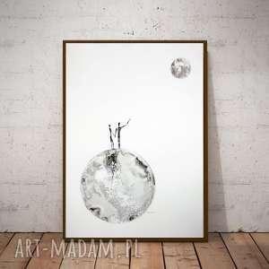 art krystyna siwek grafika 50x70 cm wykonana ręcznie, plakat, abstrakcja
