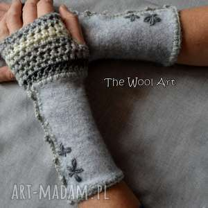 rękawiczki mitenki - rękawiczki, mitenki, nadłonie, naprezent, wełniane