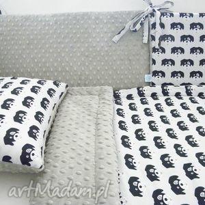minky ochraniacz do łóżeczka 60x120 - piesek silver, ochraniacz,