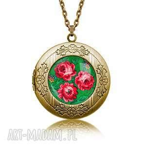 sekretnik haftowana róża, łańcuszek, sekretnik, róże, folk, kwiaty, prezent