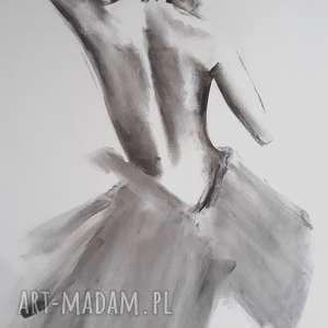 woman 100x70, duży obraz kobieta, duża grafika czarno biała