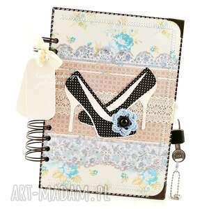 scrapbooking notesy notes-pamiętnik dla pani moniki, notes, pamiętnik, kłódka