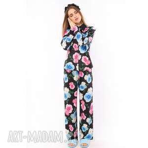 Śpiąca Królewna - spodnie w kwiaty, spodnie, piżama, kwiaty