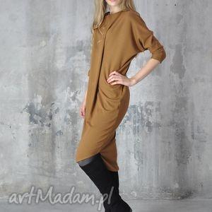 nah nu step - sukienka, midi, ruda, dzienna, praca, sylwestrowa