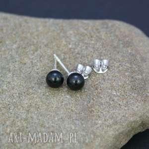 Kolczyki srebro 925 perła Mystic Black, kolczyki, wkrętki, srebrne, swarovski, mystic