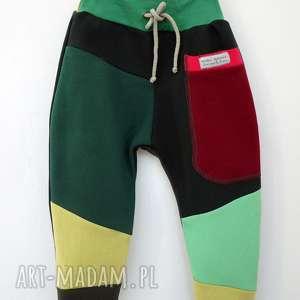 ręczne wykonanie patch pants spodnie 74 - 104 cm burgund