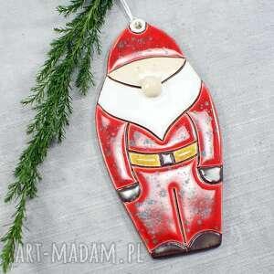 hand-made pomysł na prezent świąteczny mikołaj - zawieszka