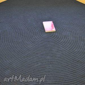 dwa okrąglaki na zamówienie, dywan, okrągły, duży, chodnik, dziergany, sznurek