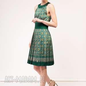 Sukienka Kamala, jedwab, plisowana