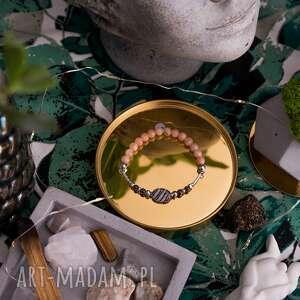 bransoletka high z jaspisu onyksów spineli i kamieni słonecznych, dwustronna