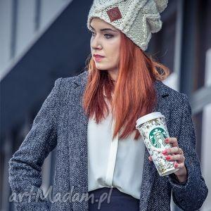 handmade czapki i'm a hero! ecru new york