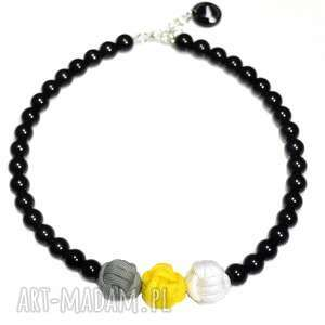 q-lki no 3 - modny, korale, naszyjnik, nowoczesny, perły, kulki
